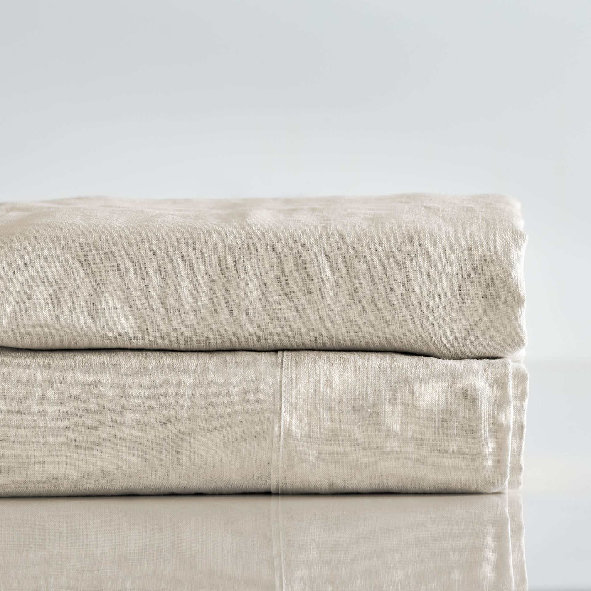 Picture of Pure Linen Pre Washed Sheet Set – Sand