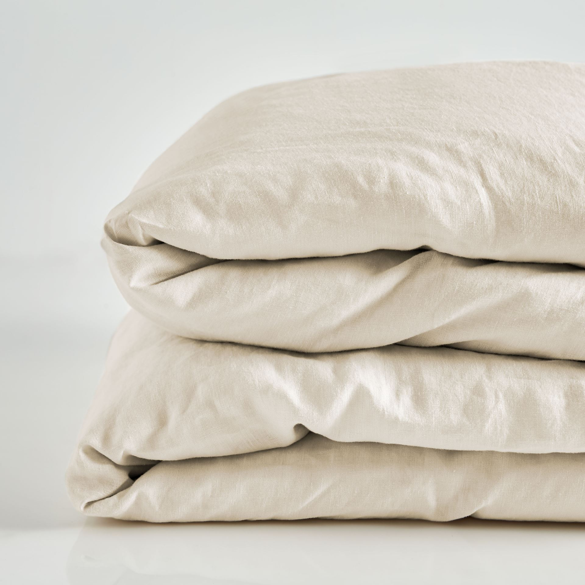 Picture of Pure Linen Pre Washed Quilt Cover – Sand