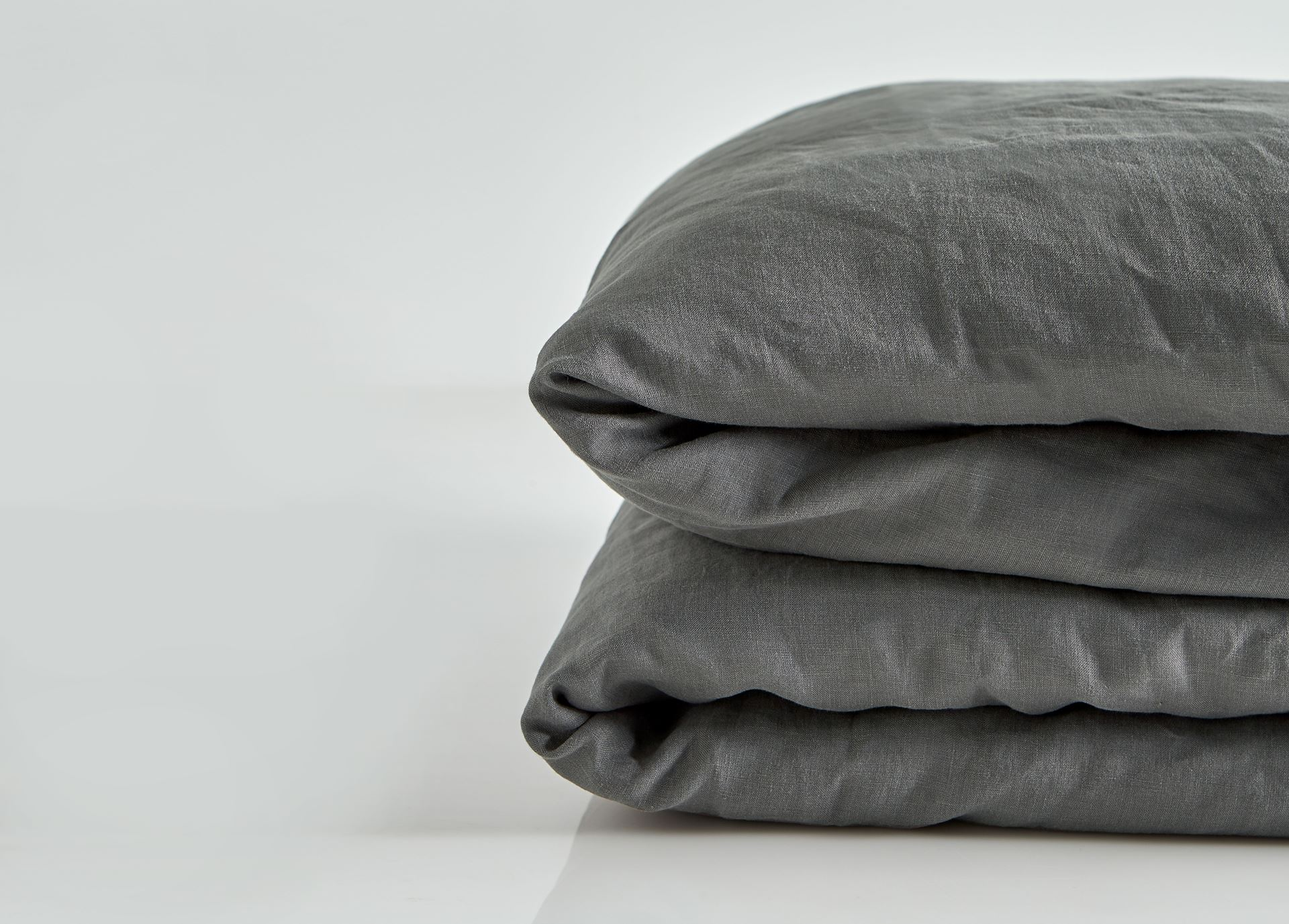 Picture of Pure Linen Pre Washed Quilt Cover – Smoke