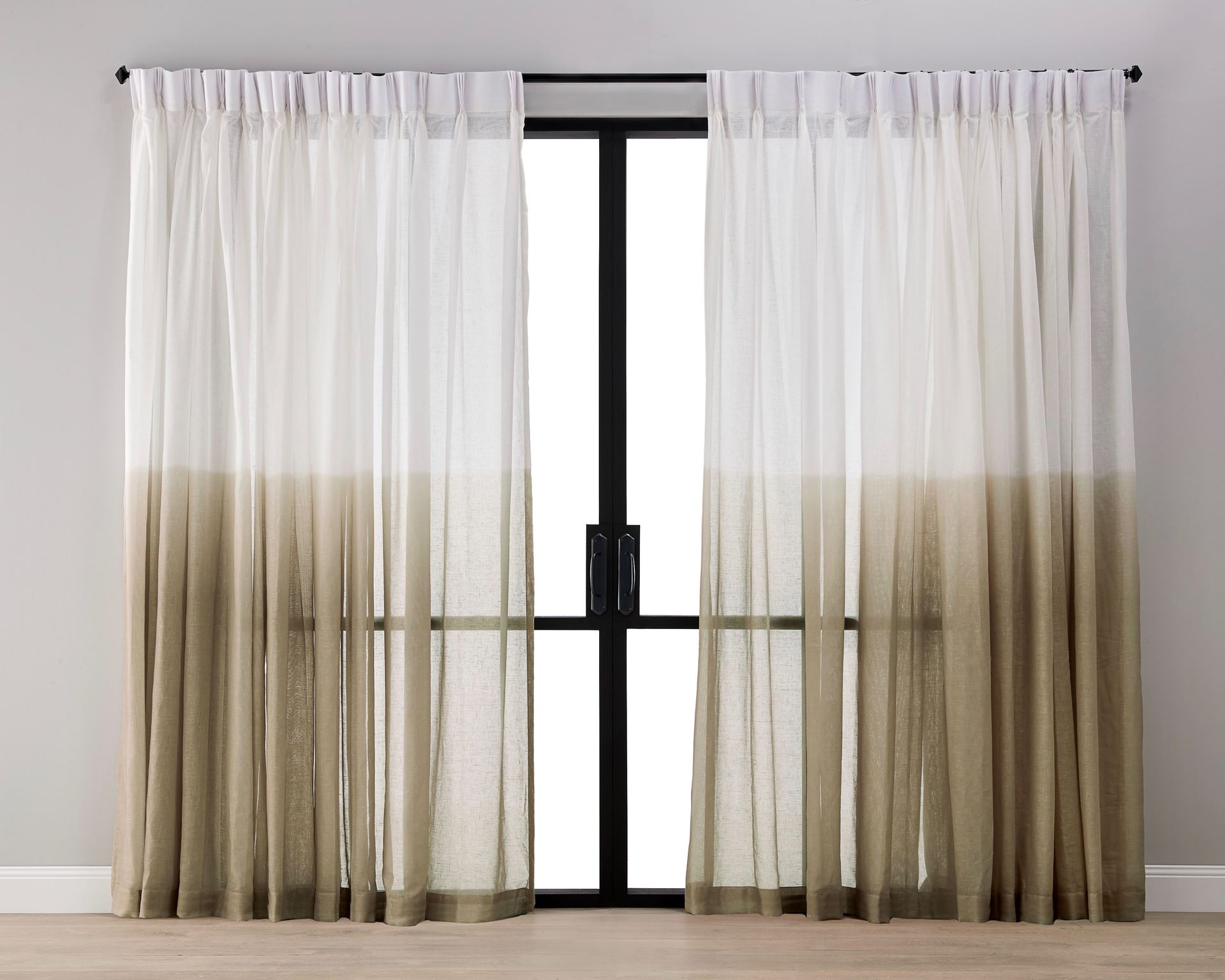 Picture of Dip Dyed Sheer  Curtain- Caramel