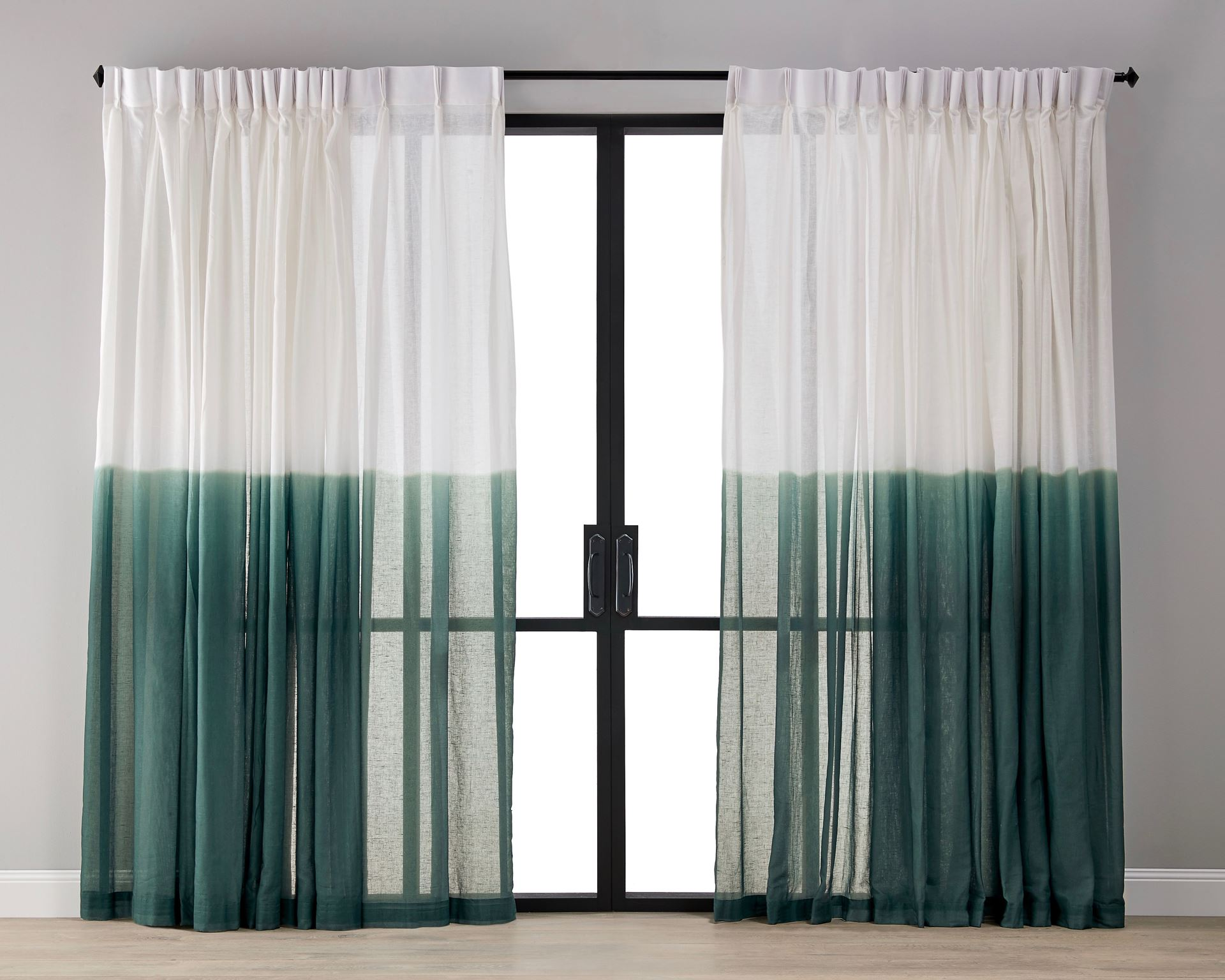 Picture of Dip Dyed Sheer Curtain - Malachite