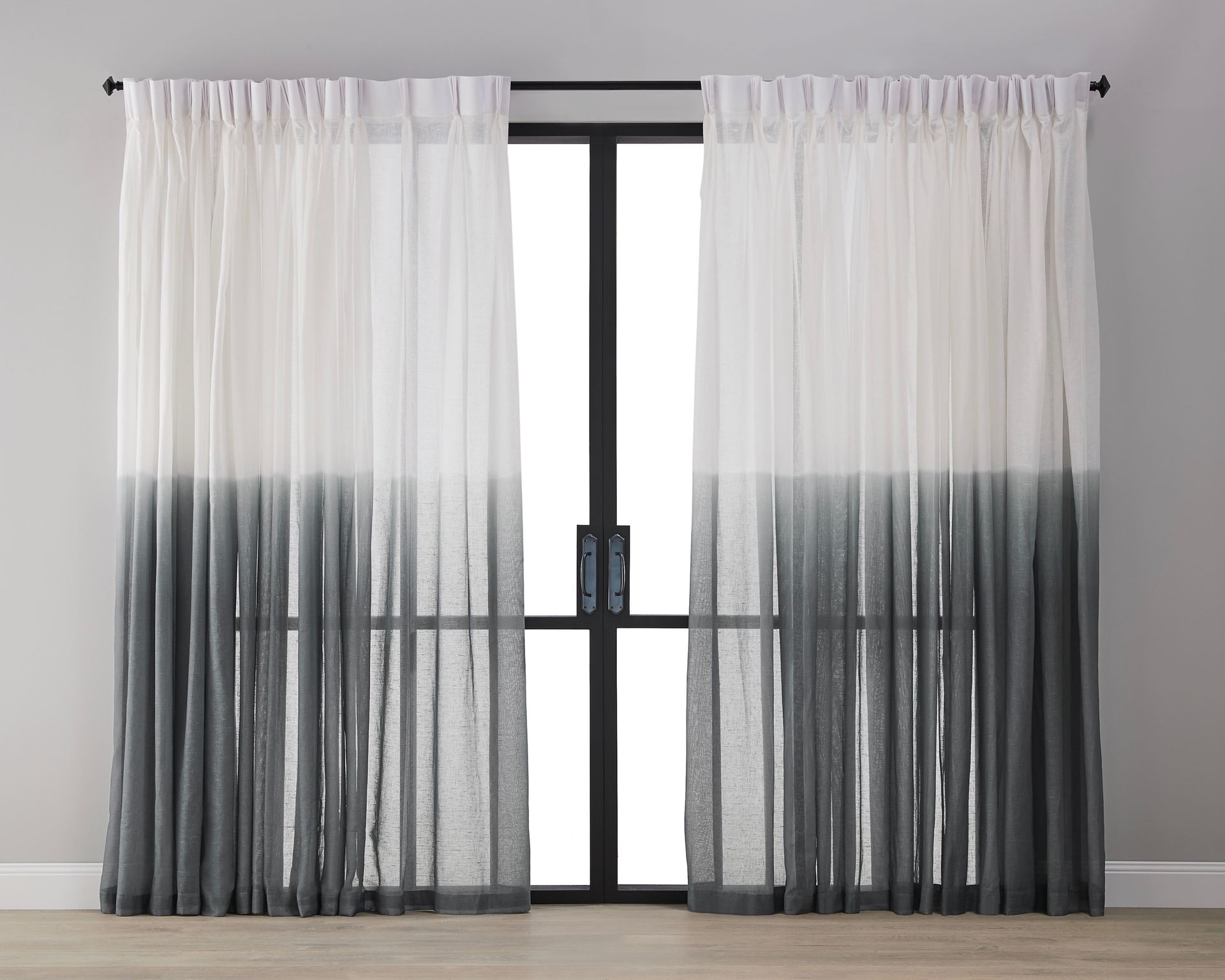 Picture of Dip Dyed Sheer Curtain - Slate