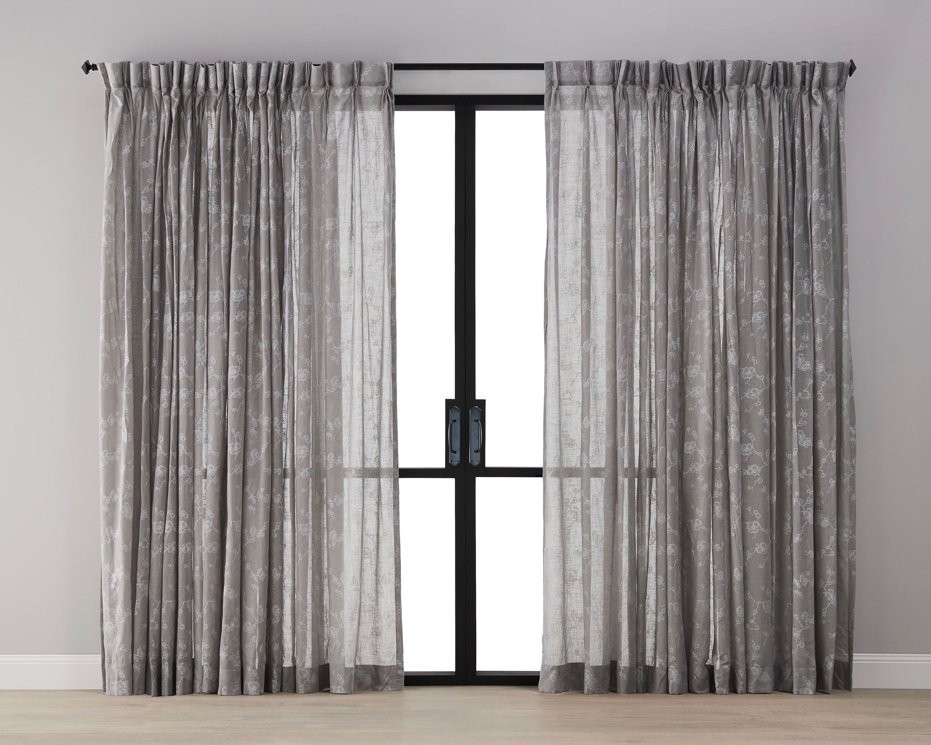 Picture of Plum Blossom Sheer Curtain - Mocha