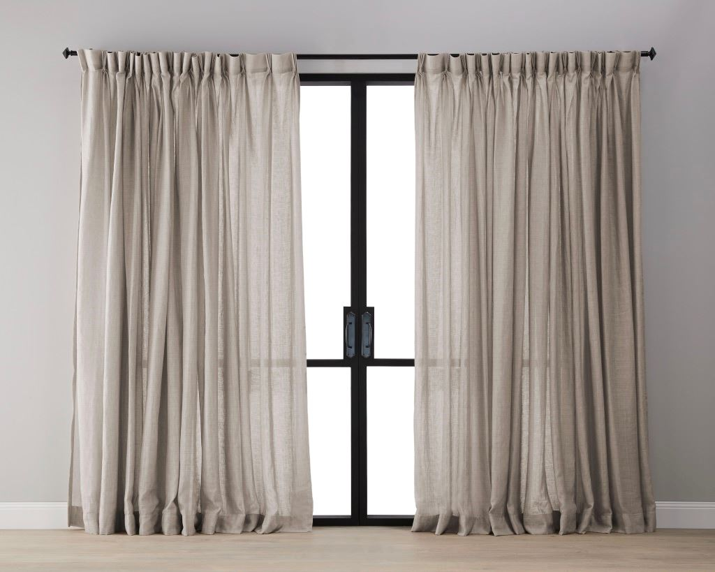 Picture of Textured Linen Sheer Curtain - Cashmere