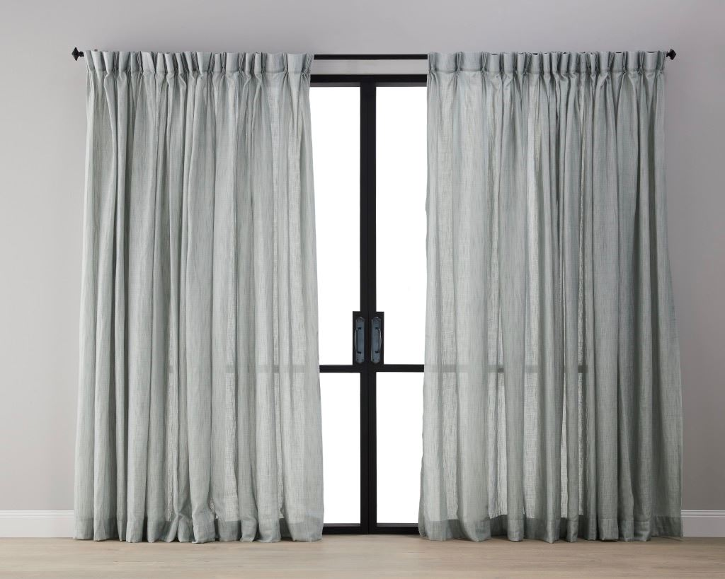 Picture of Textured Linen Sheer Curtain - Blue Grey