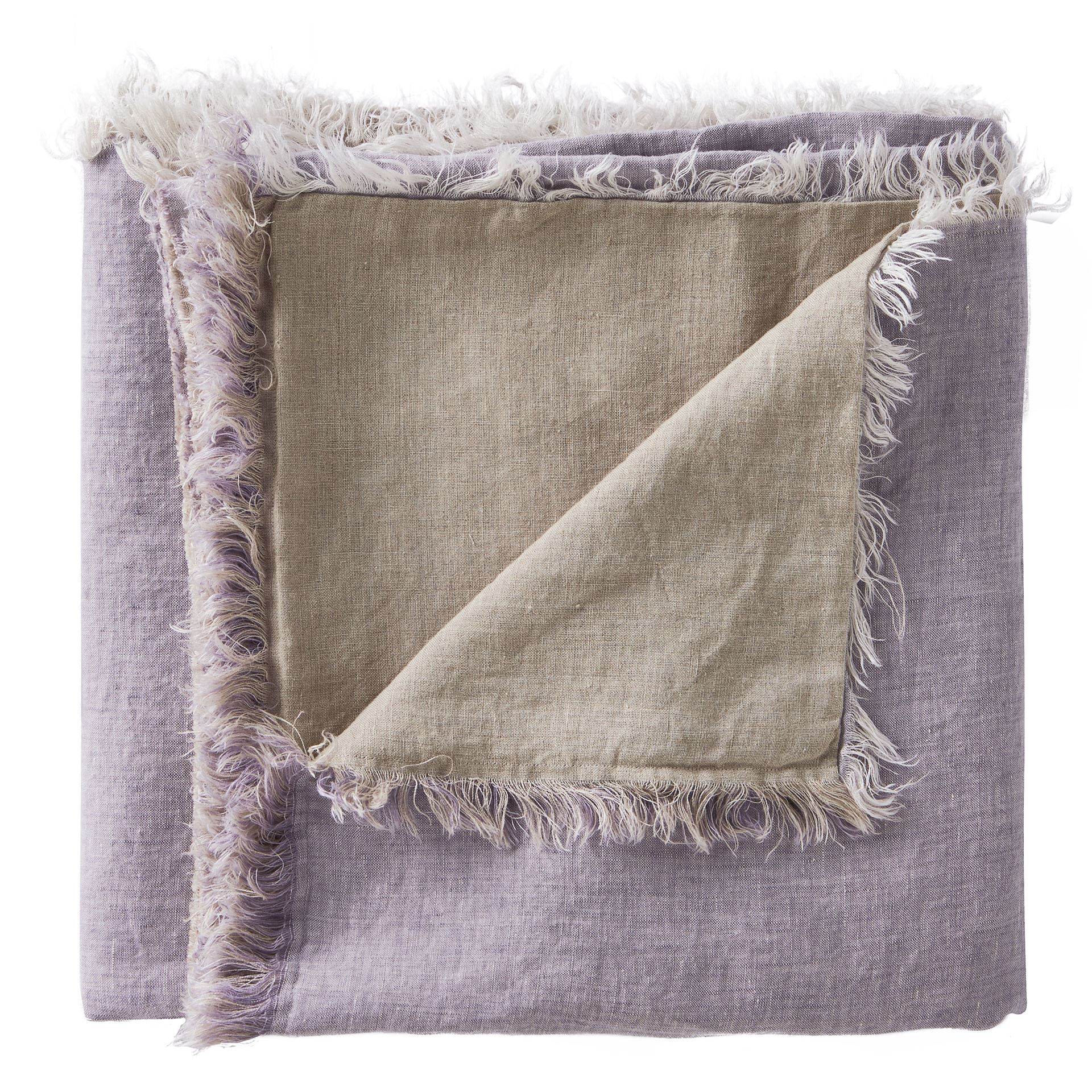 Picture of Linen Fringe Double Side Throw -Lavender