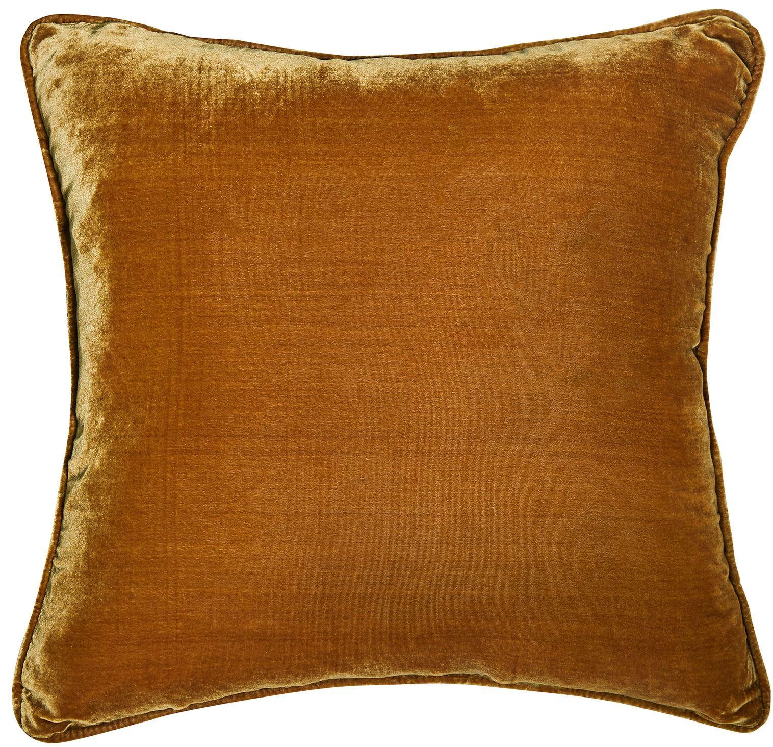 Picture of Silk Velvet Cushion - Gold