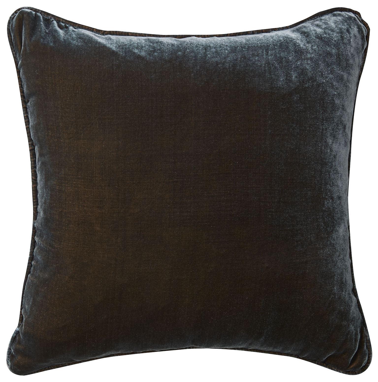 Picture of Silk Velvet Cushion - Petrol