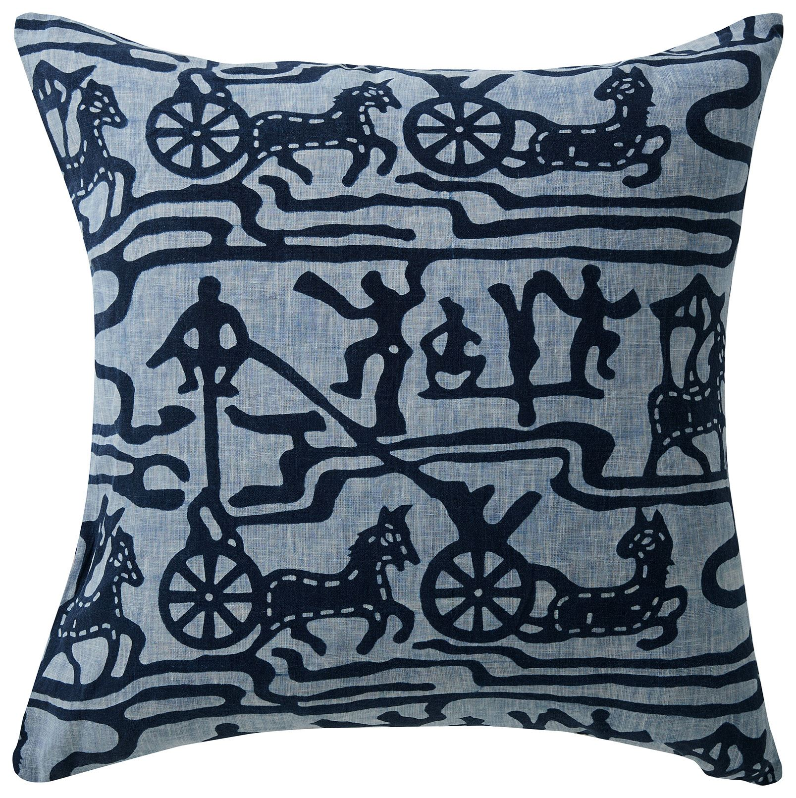 Picture of Indigo Batik Linen Cushion