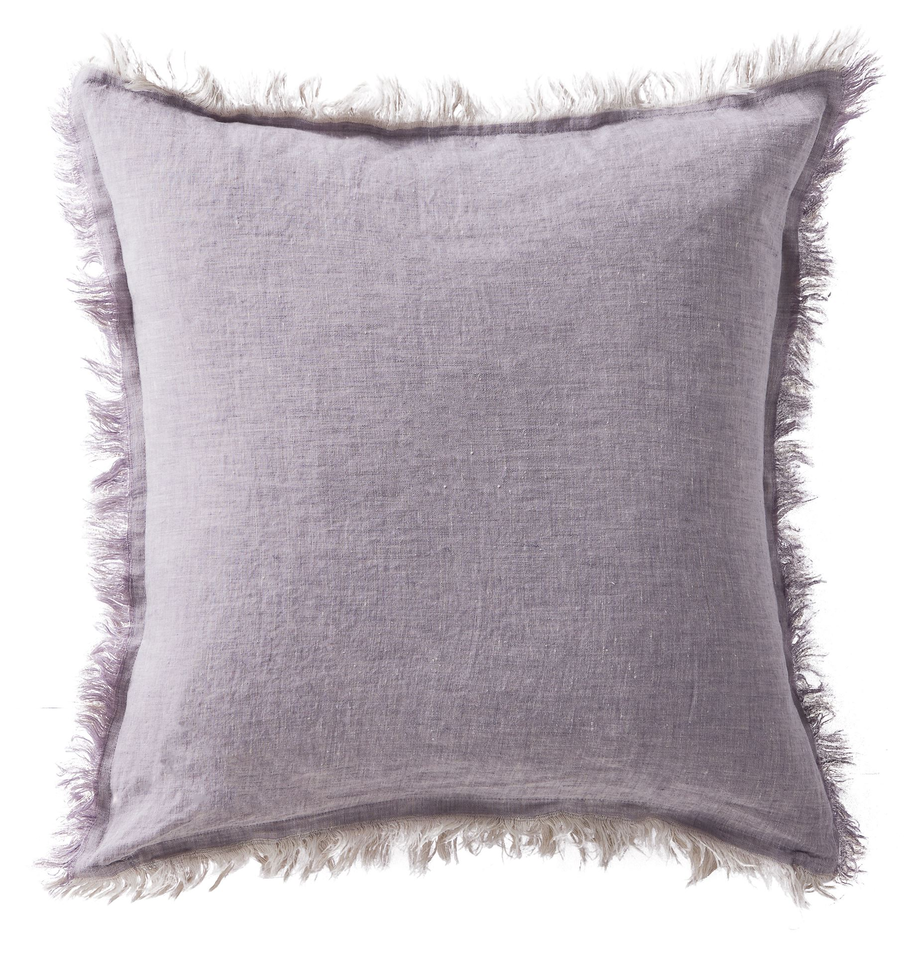 Picture of Linen Fringe Double Side Cushion - Lavender