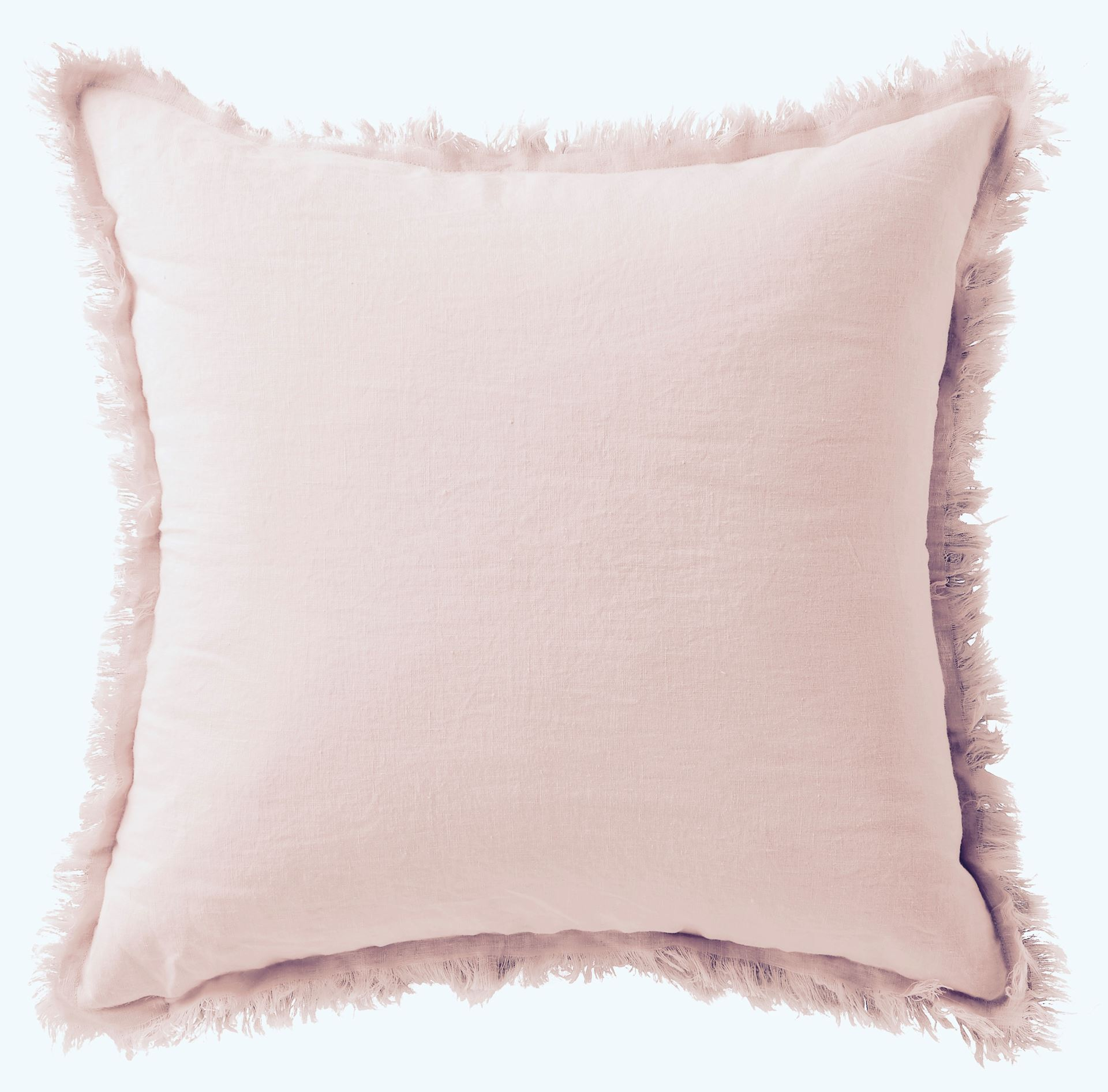 Picture of Linen Fringe Double Side Cushion - Blush